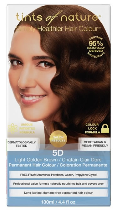 Tints of Nature, 5D Light Golden Brown Permanent Hair Colour