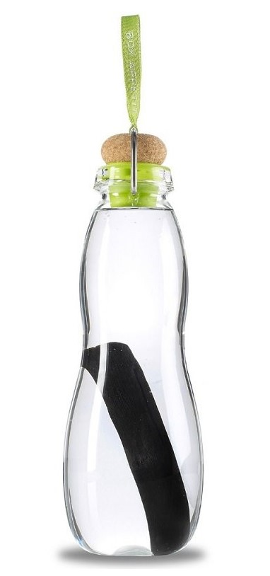 Black + Blum, Water Bottle with Charcoal Filter Lime, 800ml