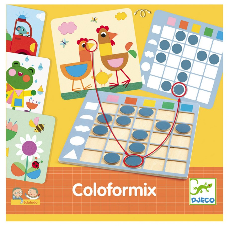 Djeco, Educational Games Eduludo Coloformix, 3+ years