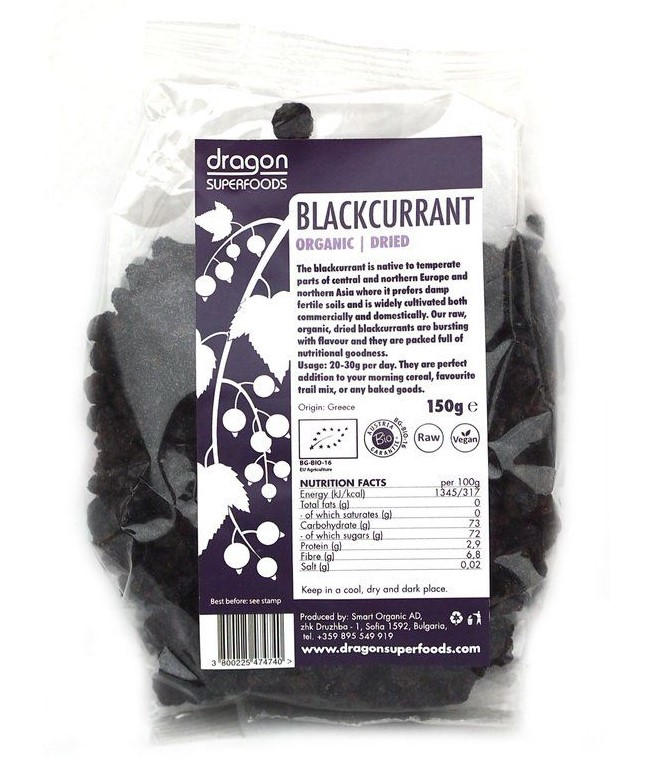 Dried Blackcurrant, 150g