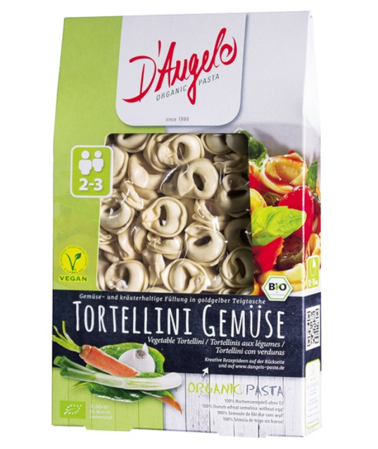 D'Angelo, Tortellini with Vegetables, 250g