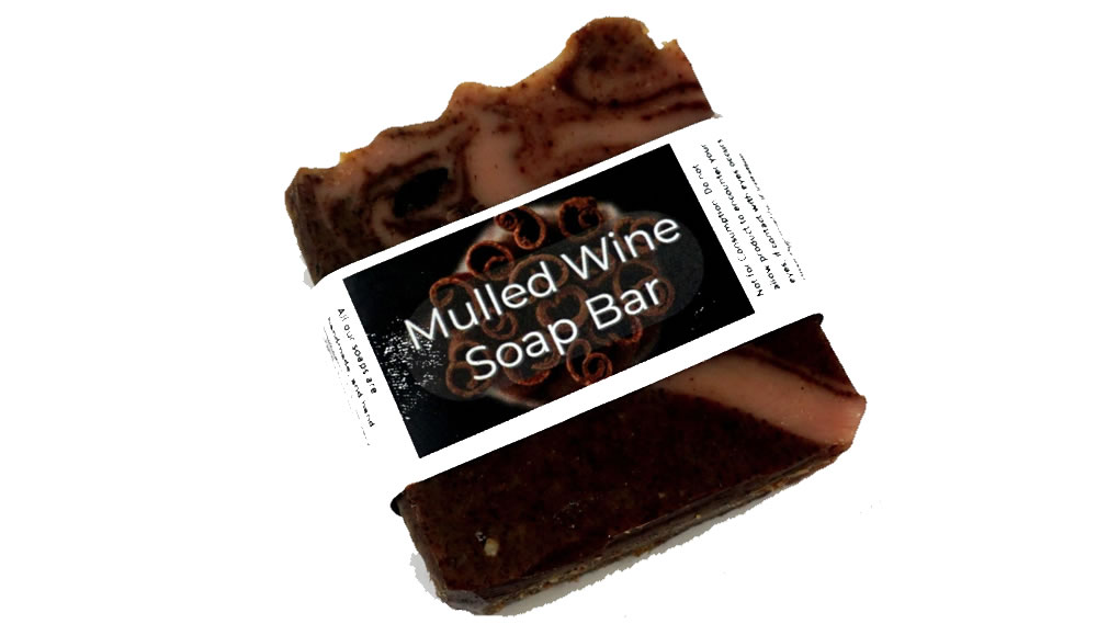 The Natural Spa, Mulled Wine Soap Bar, 100g