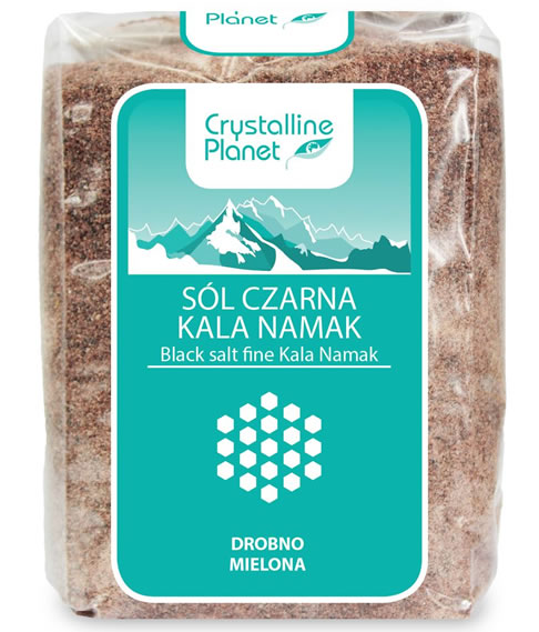 Crystalline Planet, Black Salt Fine Kala Namak, 600g