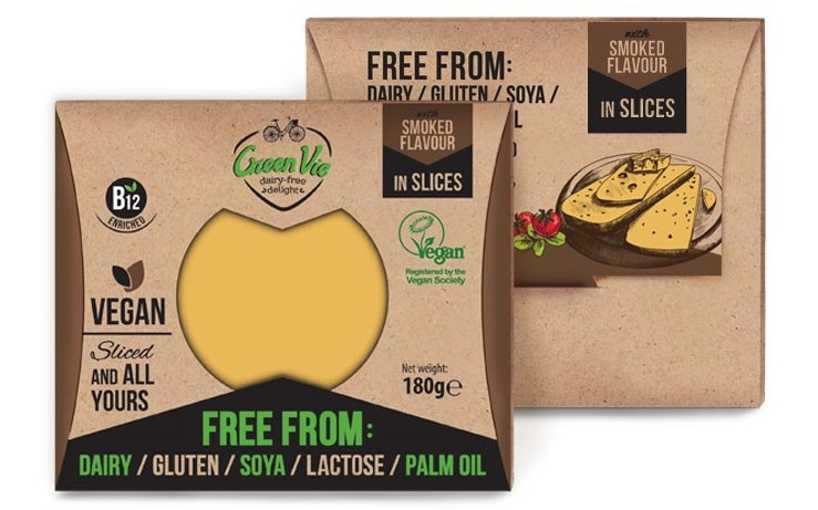 Green Vie, Smoked Gouda Flavour Slices, 180g