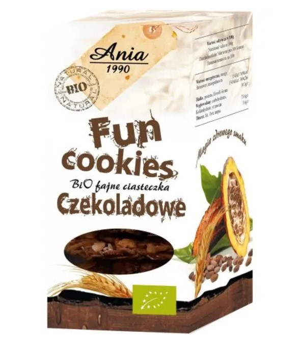 Bio Ania, Fun Cookie Chocolate, 120g