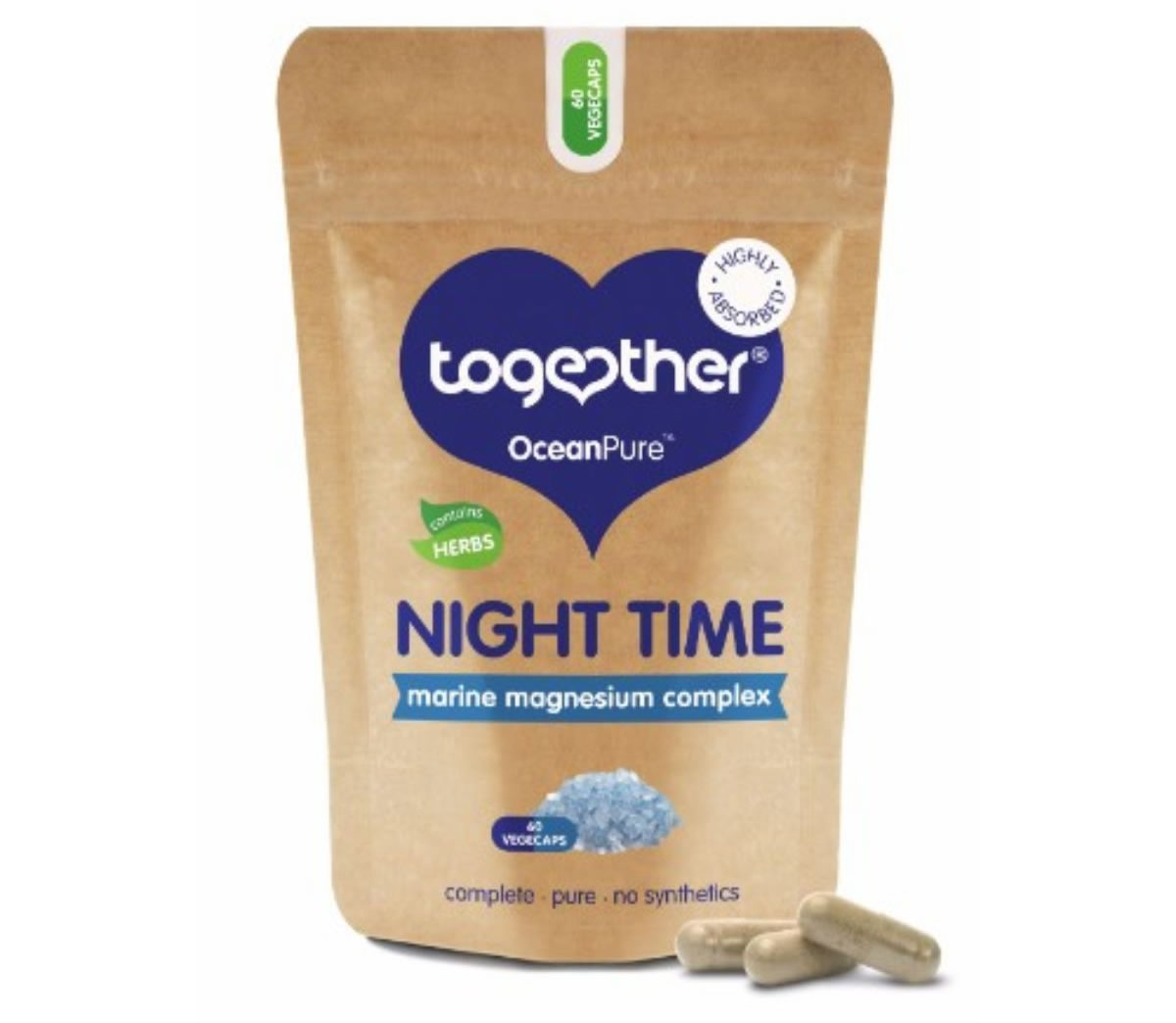 Together, Oceanpure Night Time Magnesium Complex, 60 capsules