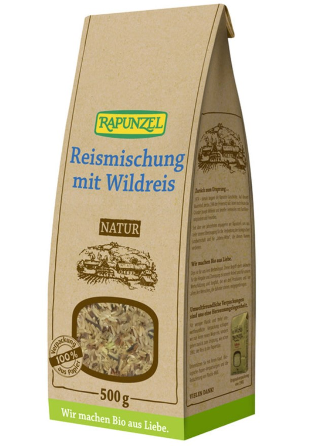 Rapunzel, Rice Blend with Wild Rice, 500g