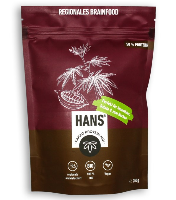 Hans Brainfood, Cocoa Protein Mix, 250g