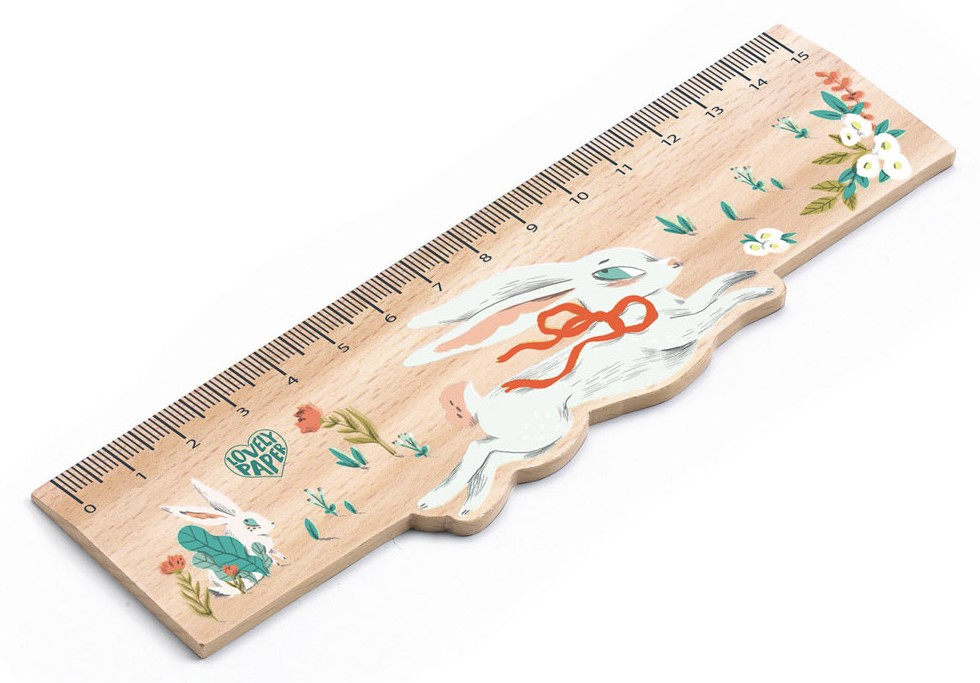 Djeco, Wooden Rulers Lucille, 6+ years