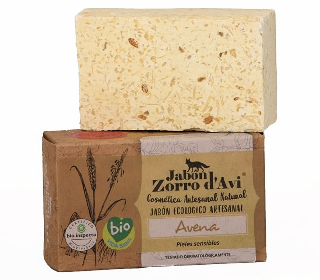 Jabon Zorro d'Avi, Oatmeal Organic Soap Bar, 120g