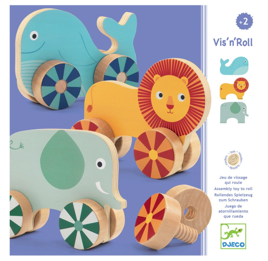 Djeco, Early Learning Vis'n'roll, 2+ years