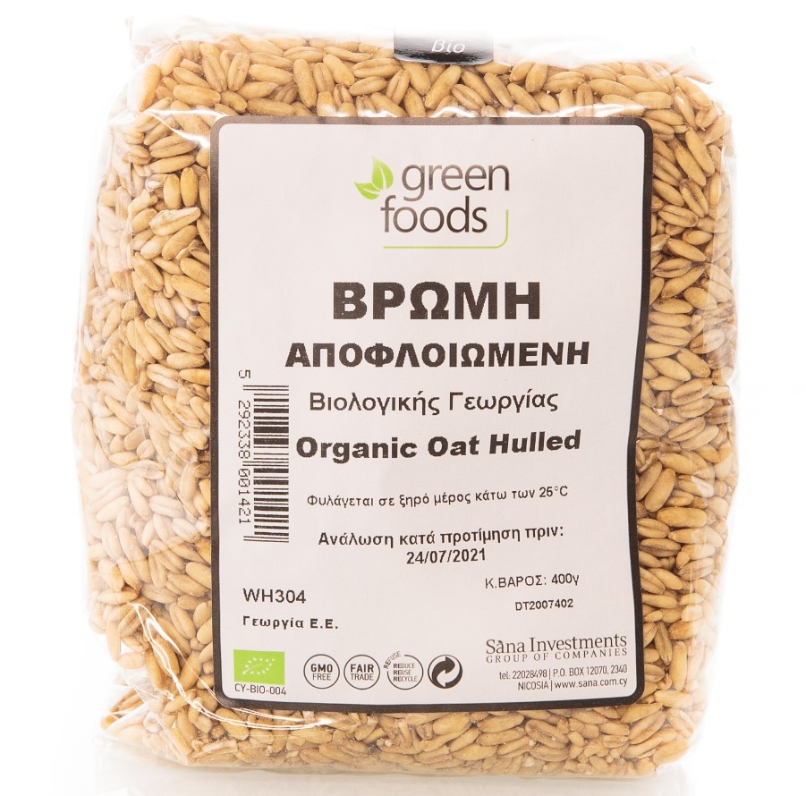 Green Foods, Hulled Oat, 400g