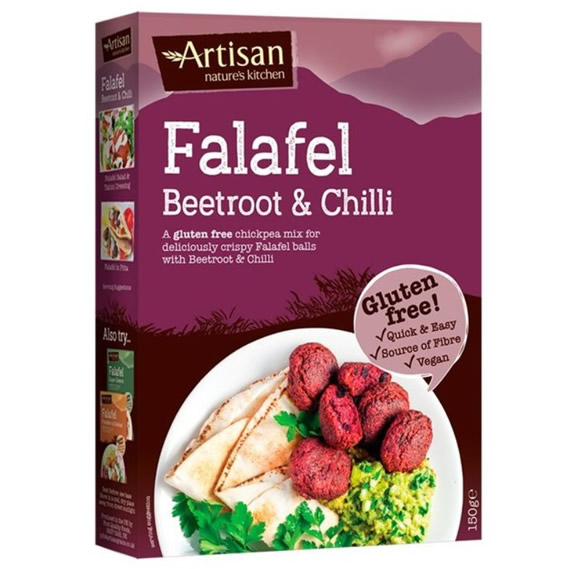 Artisan Grains, Beetroot & Chilli Falafel Mix, 150g