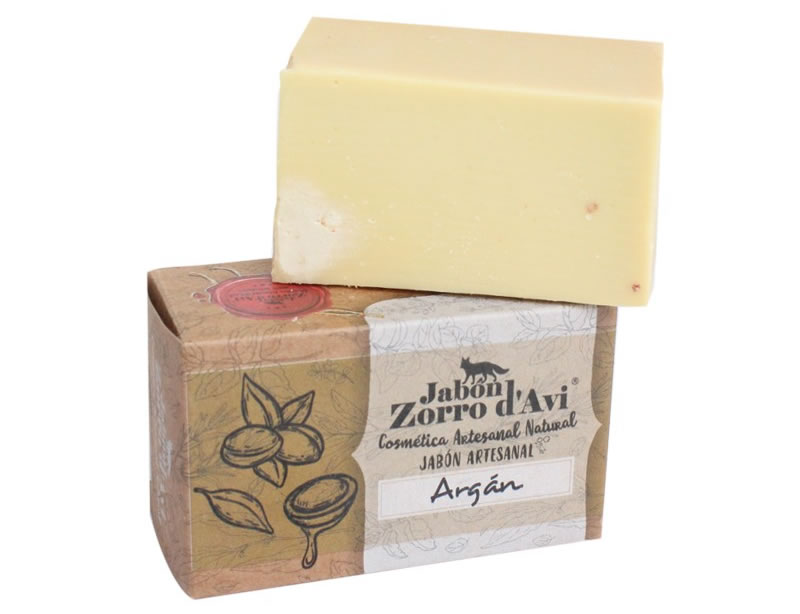 Jabon Zorro d'Avi, Argan Oil Soap Bar, 120g