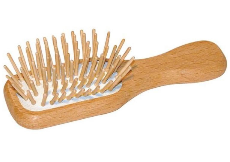 EcoLiving, Mini Wooden Plastic-Free Hairbrush