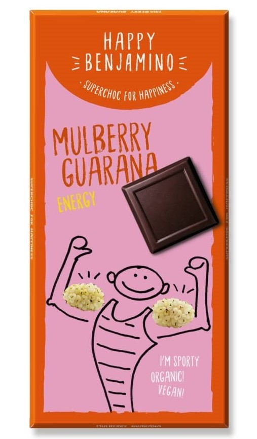 Benjamin, Milk Chocolate Mulberry Guarana, 70g