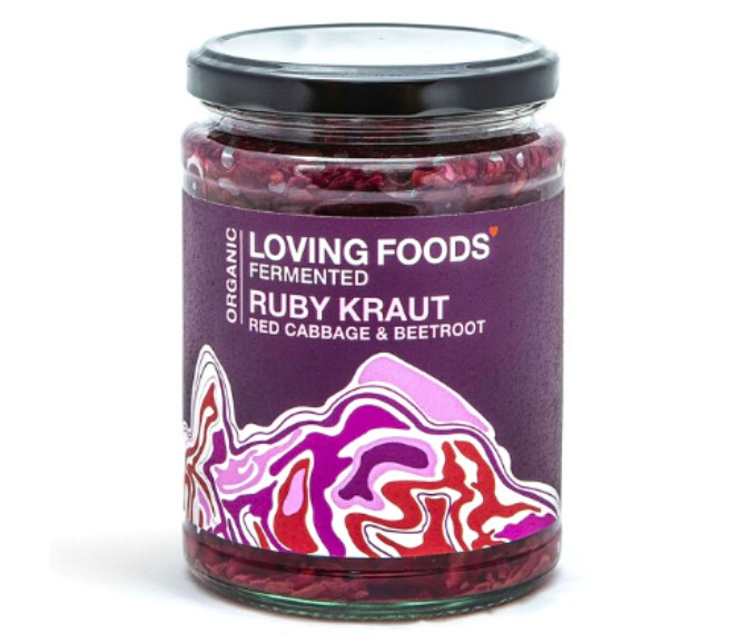 Loving Foods, Ruby Kraut Fermented Red Cabbage & Beetroot, 500g