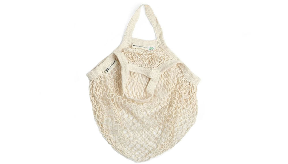 Turtle Bags, Short Handle Organic Cotton String Bag - Natural