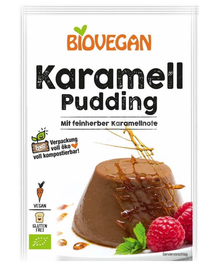Biovegan, Caramel Paradies Pudding, 43g