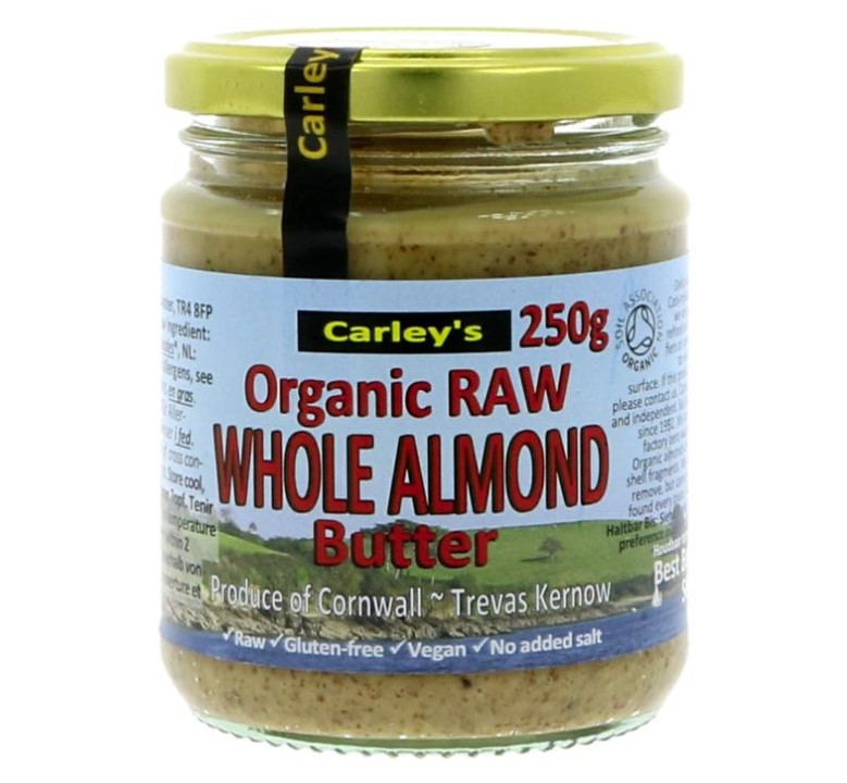 Carleys, Raw Whole Almond Butter, 250g