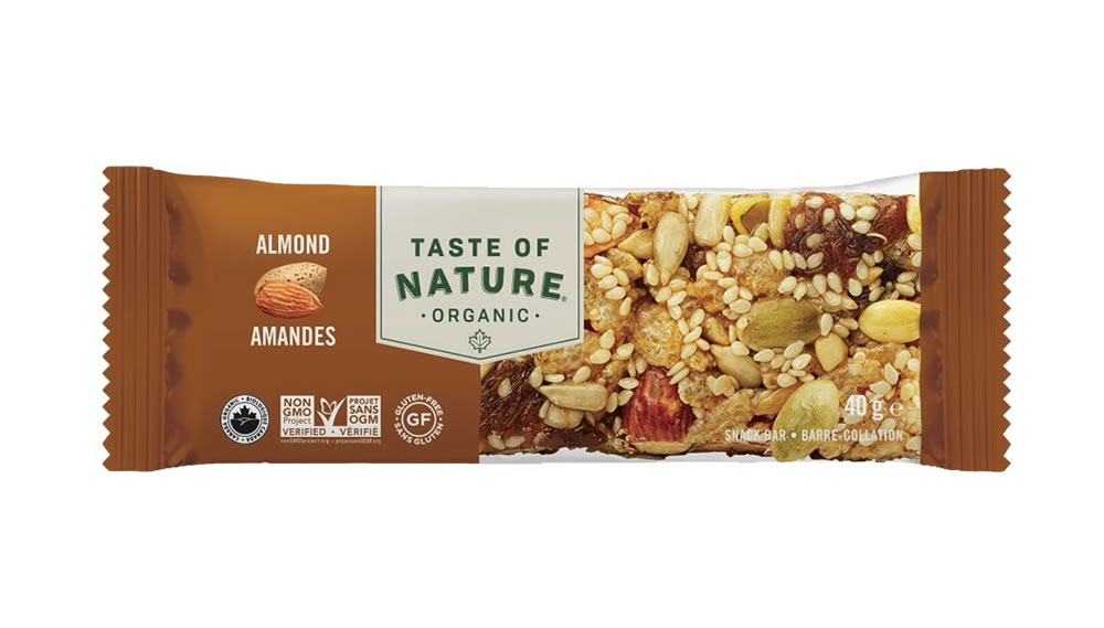 Taste Of Natur, Almond Snack Bar, 40g