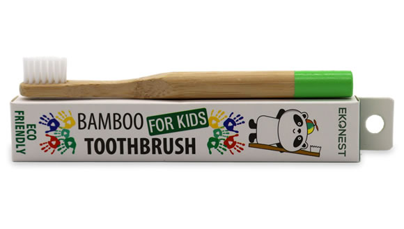 Bamboo Toothbrush: Kids Edition (soft bristles - green)