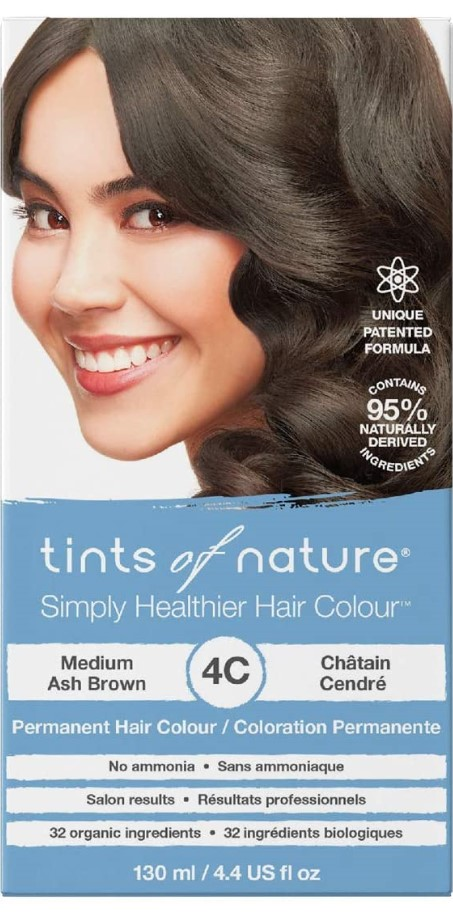 Tints of Nature, 4C Medium Ash Brown Permanent Hair Colour