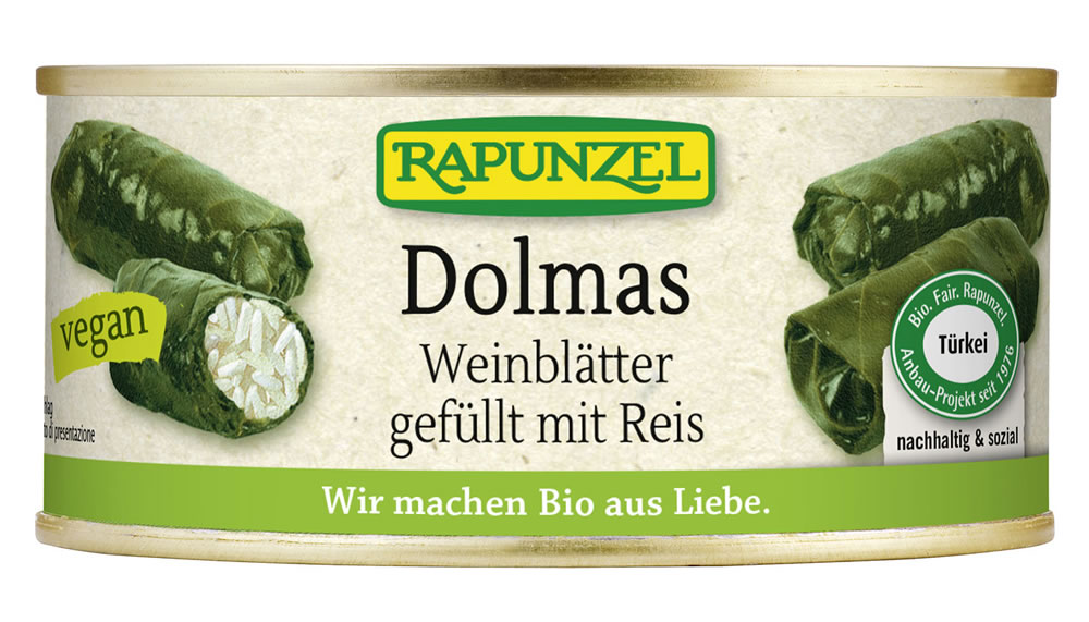 Rapunzel, Dolmas wine leaves filled with rice, 280g