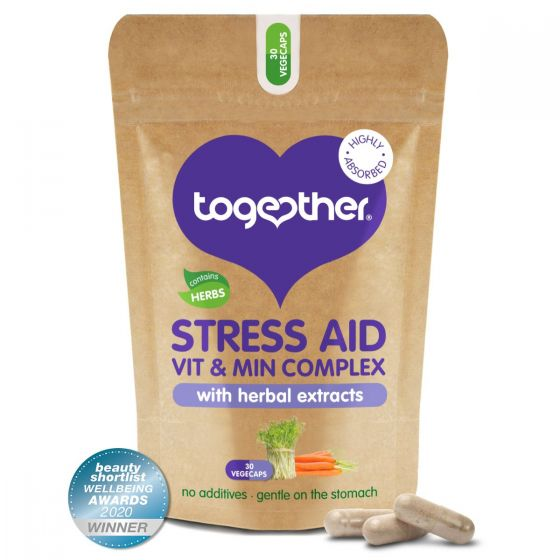 Together, Stress AID Vit & Min Complex with herbal extracts, 30 capsules
