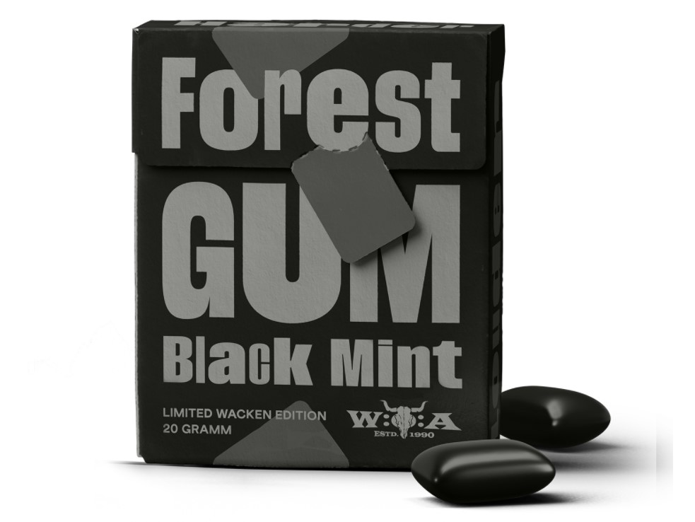 Forest Gum, Chewing Gum Black Mint, 20g