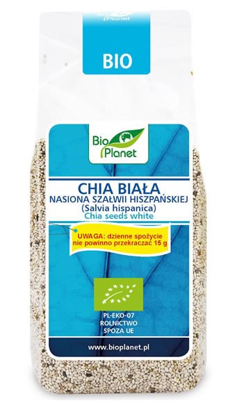 Bio Planet, Chia Seeds White, 200g