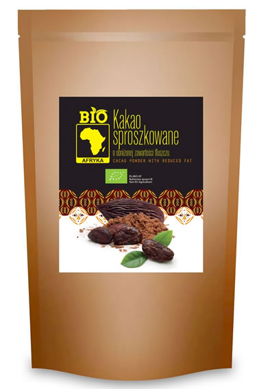 Bio Afryka, Cacao Powder with Reduced Fat, 200g