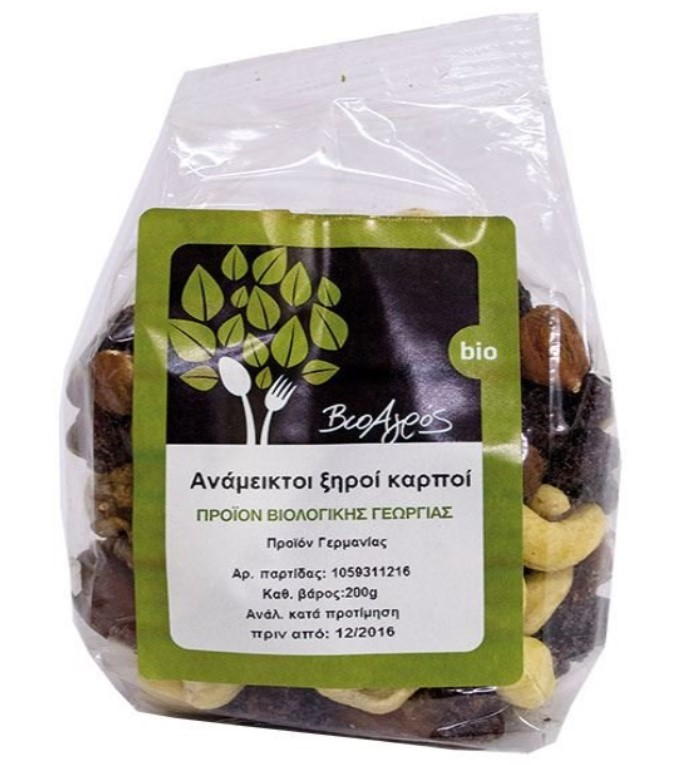 BioAgros, Mixed Nuts and Dried Fruits, 200g