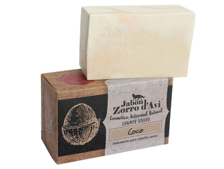 Jabon Zorro d'Avi, Natural Coconut Shampoo and Soap bar, 120g