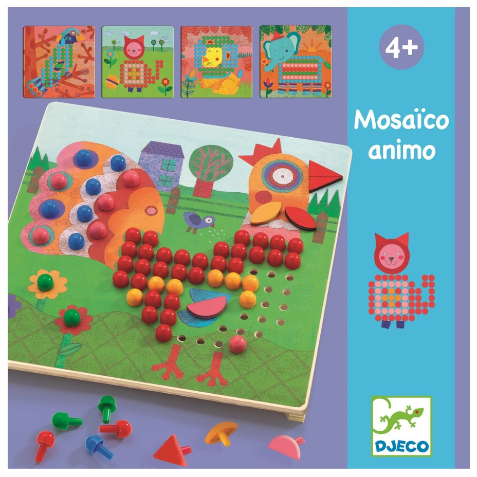 Djeco, Mosaic Animals, 3+ years