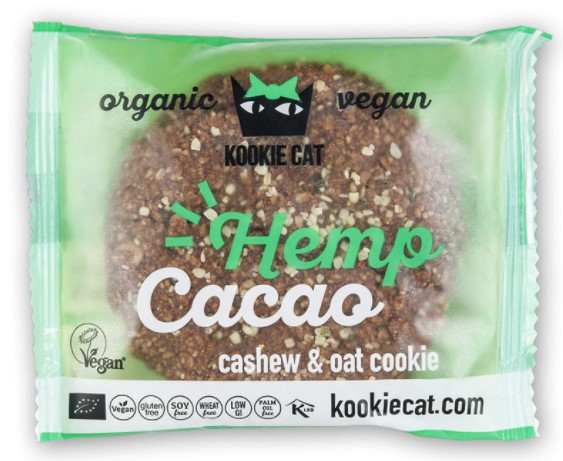 Kookie Cat, Cashew Oat Cookie Hemp Seeds & Cocoa, 50g