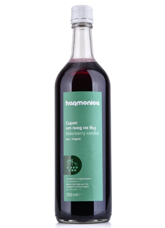 Harmonica, Elderberry Cordial Syrup, 750ml