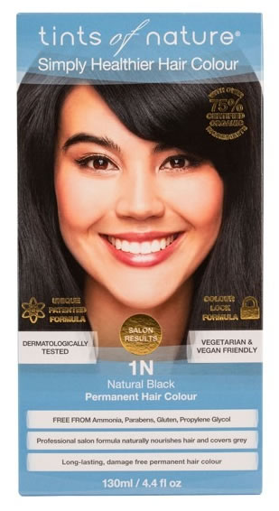 Tints of Nature, 1N Natural Black Permanent Hair Colour