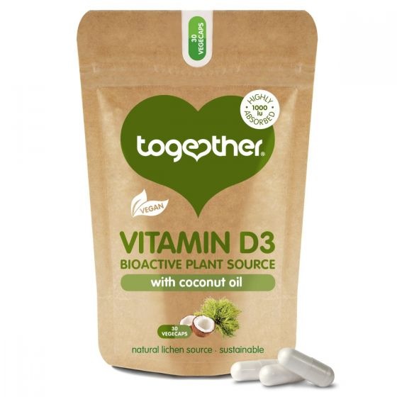 Together, Vitamin D3 with coconut oil, 30 capsules