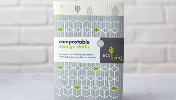 EcoLiving, Reusable & Washable Sponge Cloths