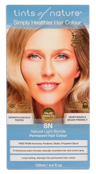Tints of Nature, 8N Natural Light Blonde Permanent Hair Colour