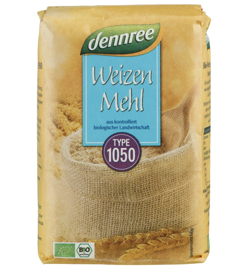 Dennree, Wheat Flour Type 1050, 1Kg