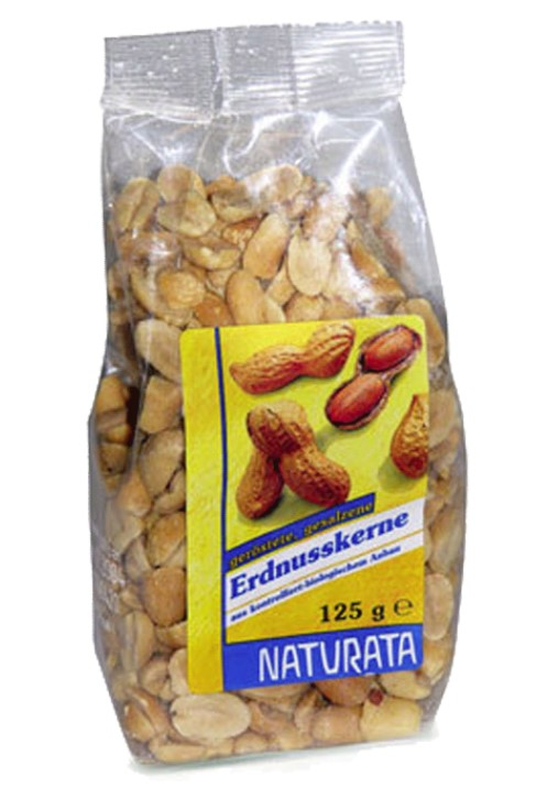 Naturata, Roasted Peanuts with Salt, 125g