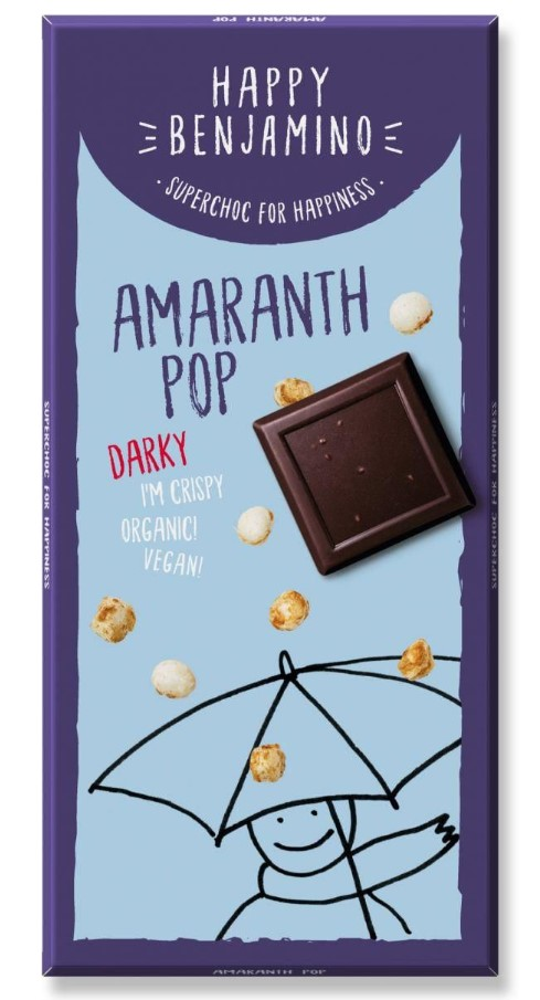Benjamin, Amaranth Pop Dark Chocolate, 70g