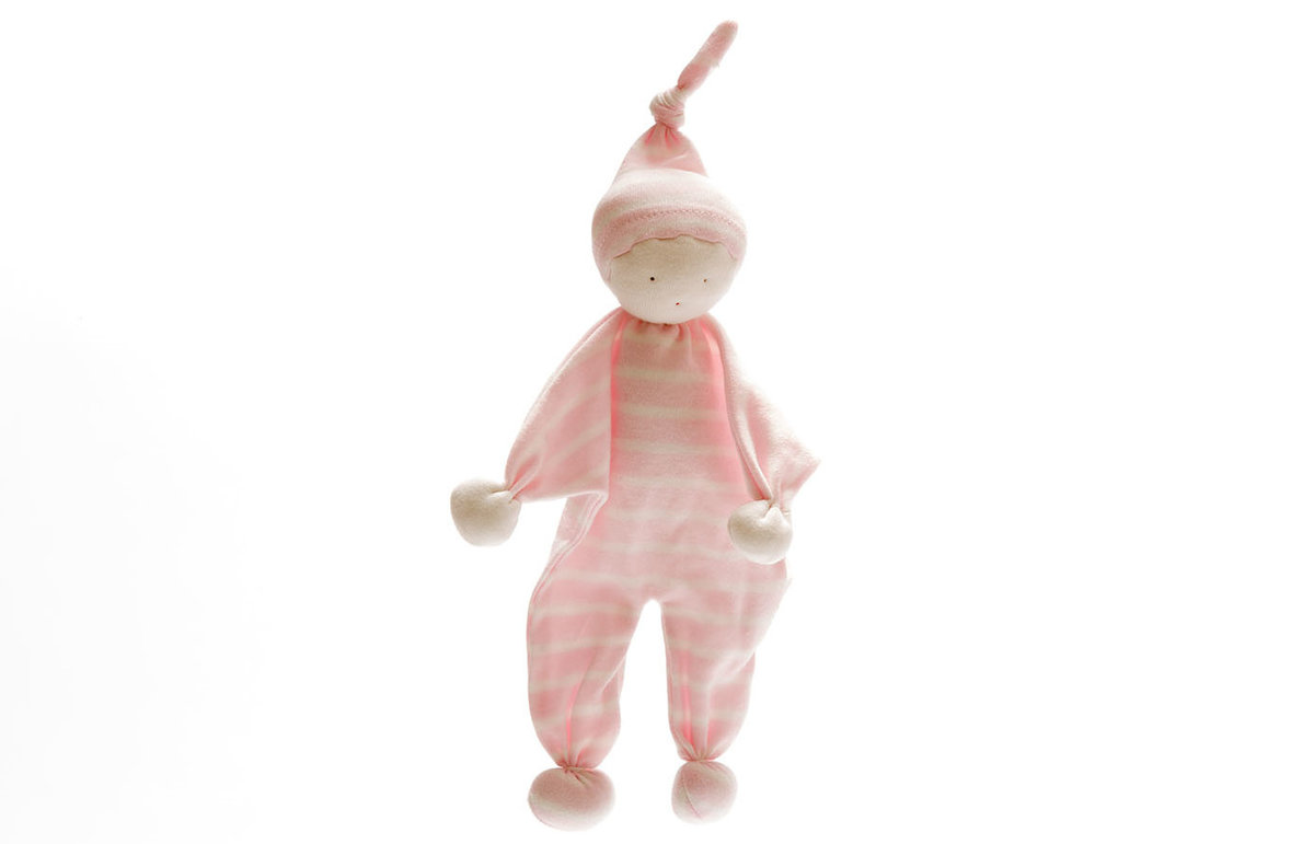 Best Years, Organic Baby Buddy pale pink wide stripe, 0+