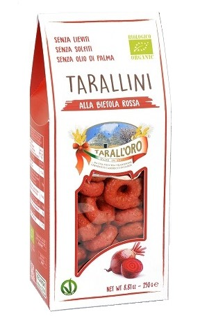 Pastificio Tarall' oro, Tarallini Red Beetroot, 250g