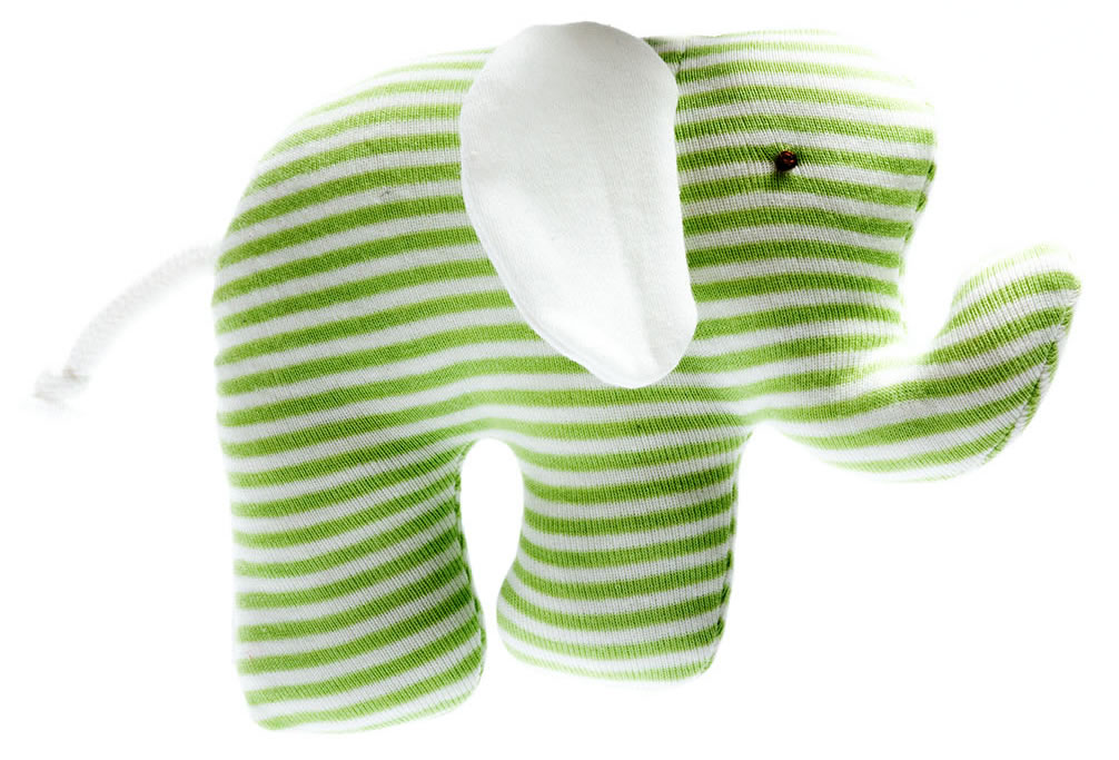 Best Years, Organic Scrappy Elephants green stripe, 0+