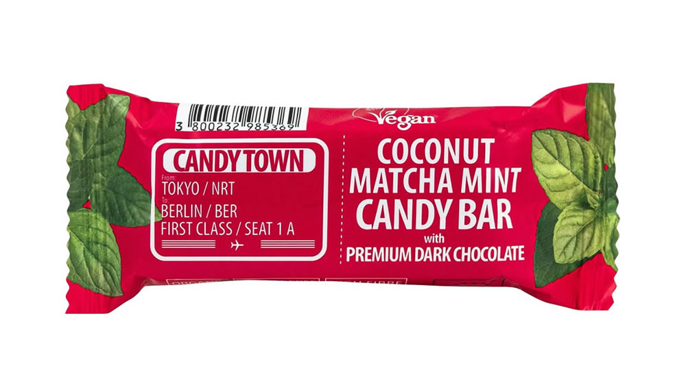 Candy Town, Coconut Matcha Mint Bar, 50g