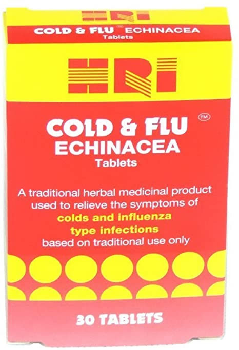 Hri, Cold & Flu Echinacea, 30 tablets