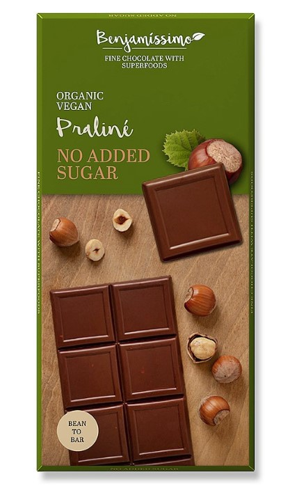 Benjamin, Hazelnut Chocolate Praline without Sugar, 70g